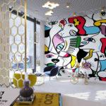 Дизайн интерьера груминг-салона Picasso Groom
